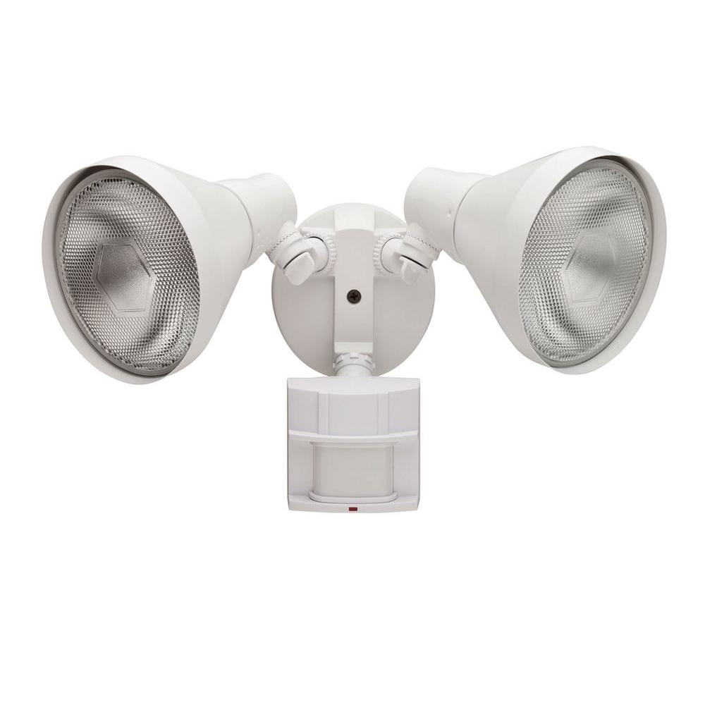 180 Degree White Motion Sensing Outdoor Security Light. Spotlights   Outdoor Flood   Spot Lights   Outdoor Security