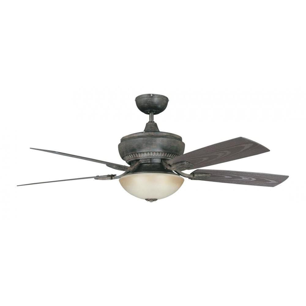 Concord Fans Boardwalk Series 52 in. Indoor/Outdoor Aged Pecan Ceiling Fan