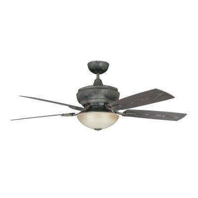 Boardwalk Series 52 in. Indoor/Outdoor Aged Pecan Ceiling Fan