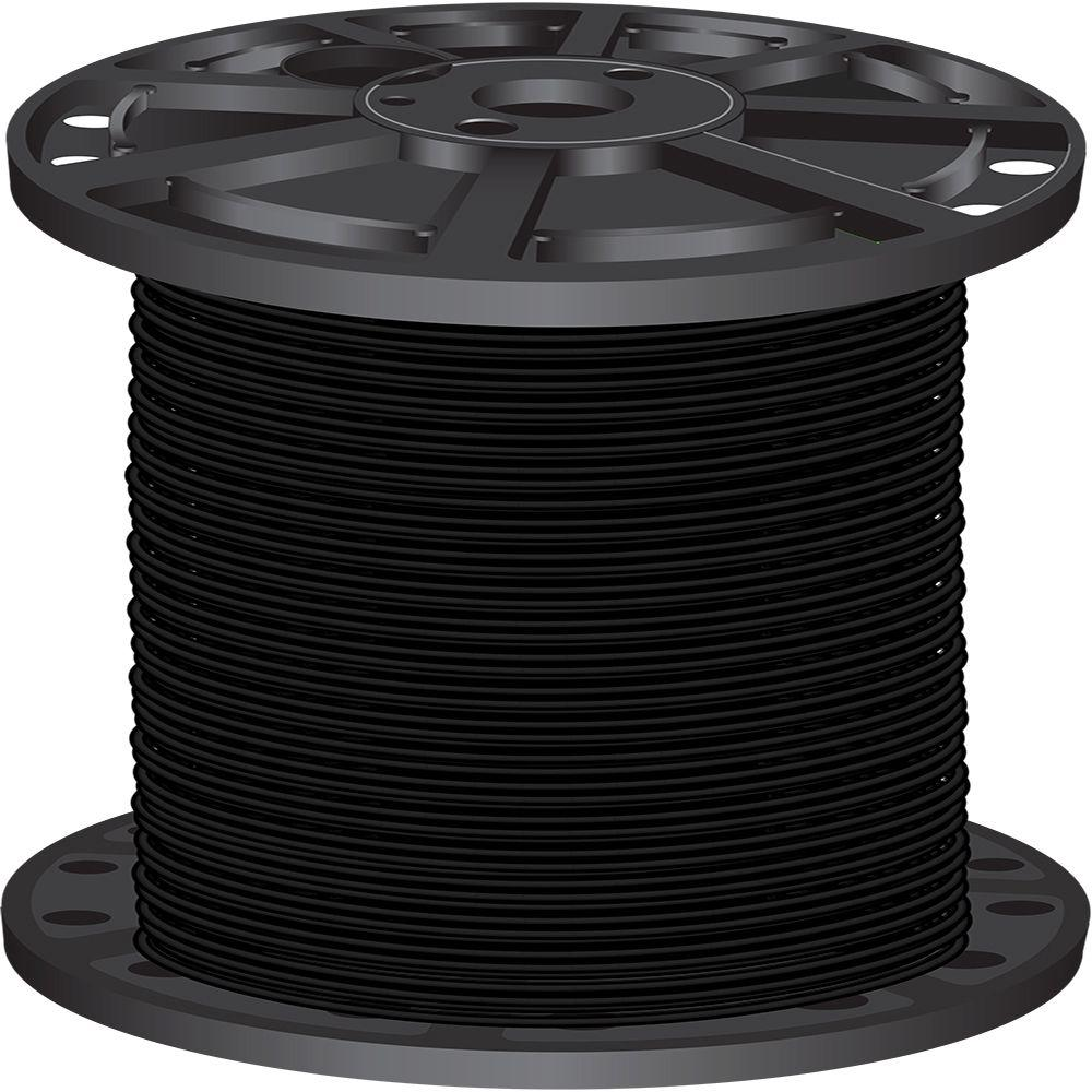 2,500 ft. 10 Black Solid CU THHN Wire
