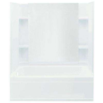 Accord 32 in. x 60 in. x 74 in. Bath and Shower Kit with Left-Hand Drain in White