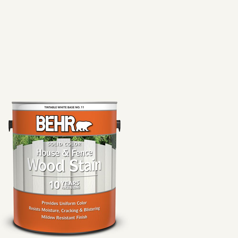 BEHR 1 gal. #SC-210 Ultra Pure White Solid Color House and Fence Exterior Wood Stain