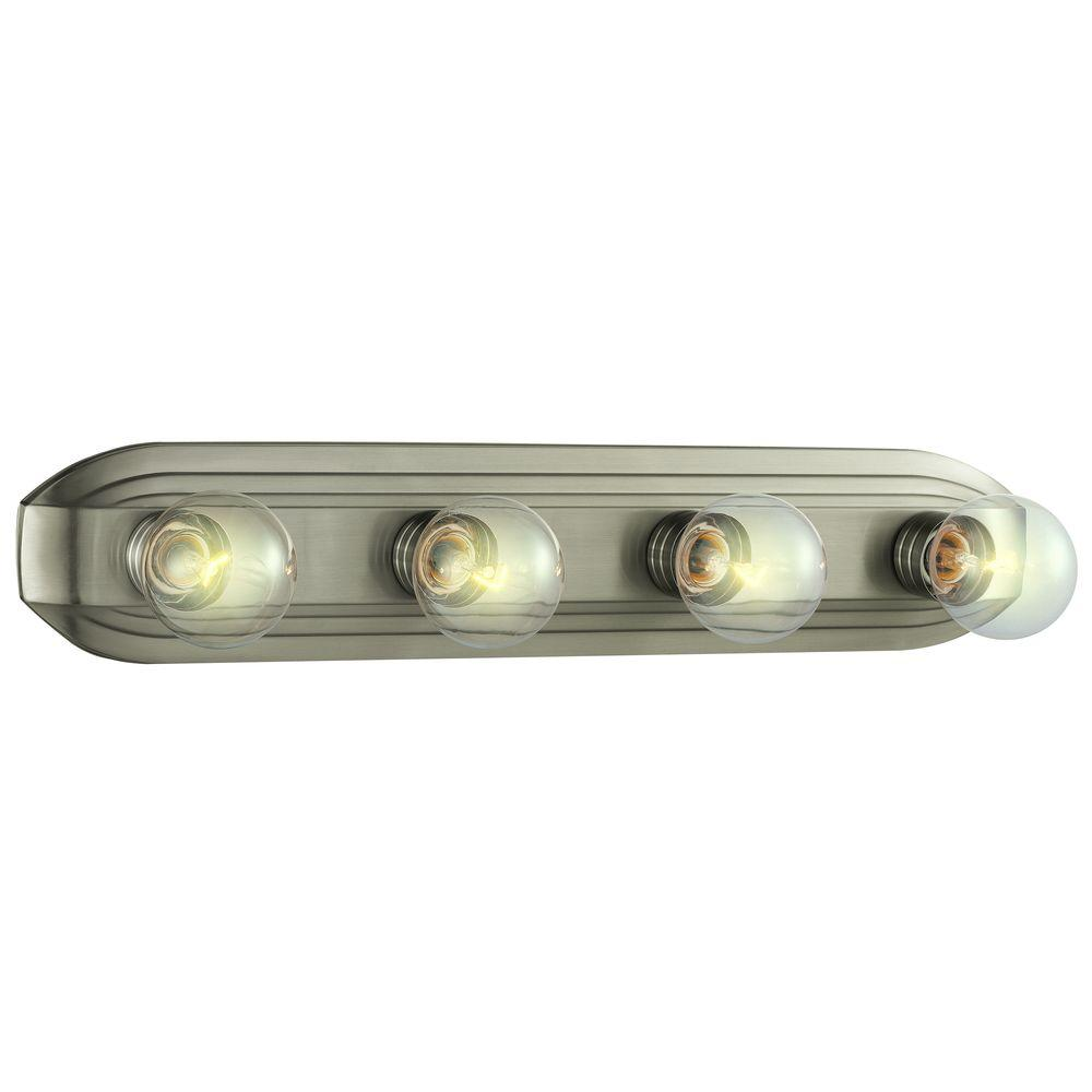 Hampton bay 4 light brushed nickel vanity light hb2051 35 the home hampton bay 4 light brushed nickel vanity light mozeypictures Images