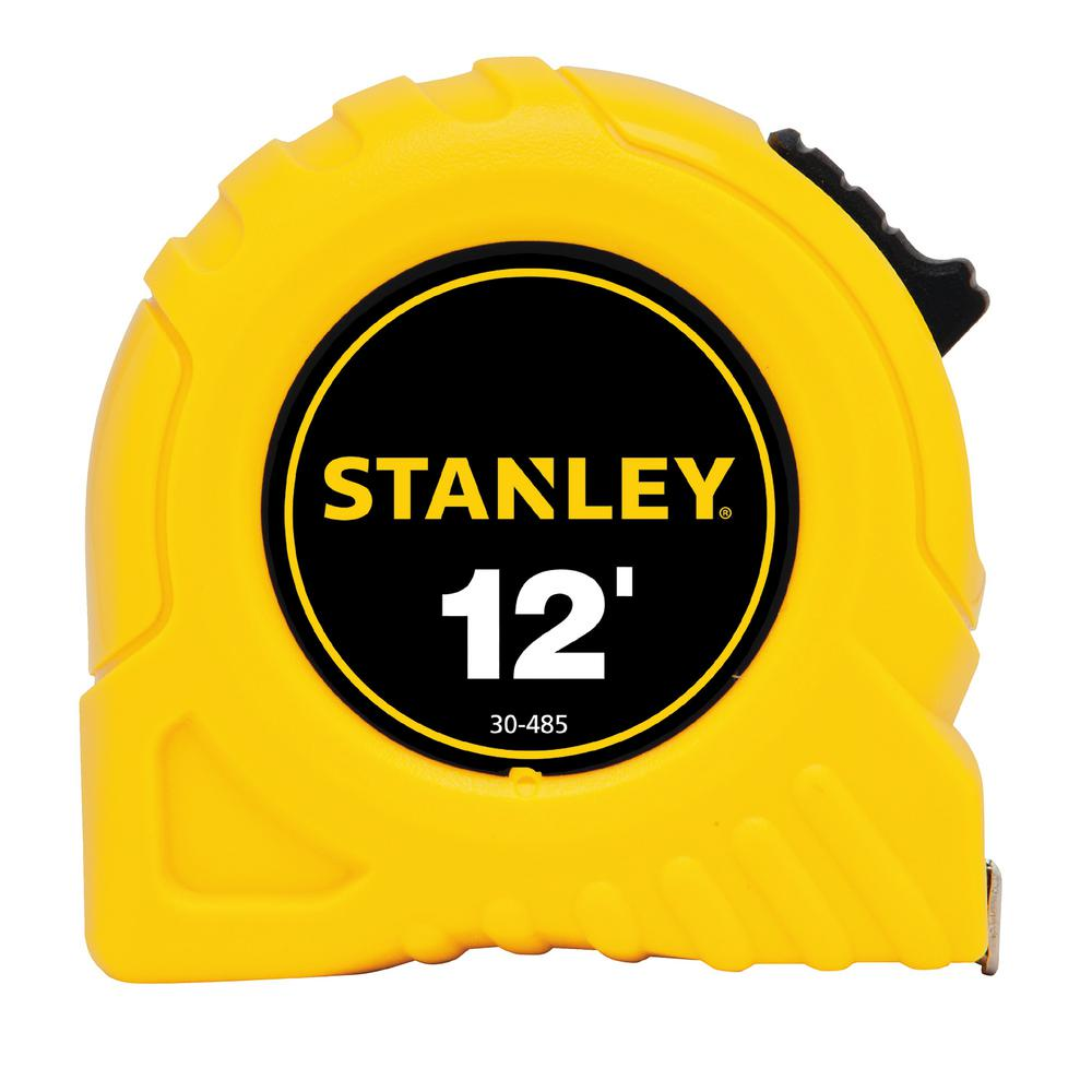 Stanley 12 Ft X 1 2 In Tape Measure 30 485 The Home Depot Basic 5m 16