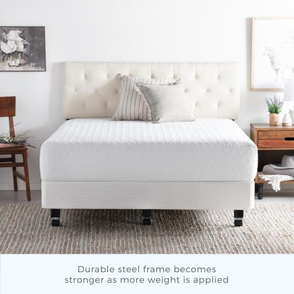 Metal King Bed Frame With Rug Rollers
