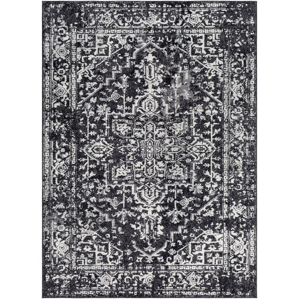 Kassandra Black 7 ft. 10 in. x 10 ft. 3 in. Oriental Area Rug