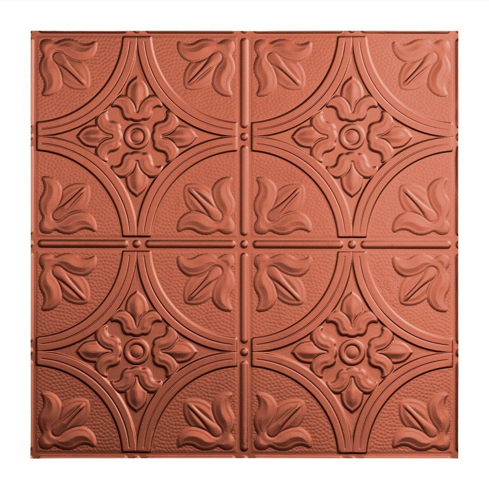 Traditional 2 - 2 ft. x 2 ft. Argent Copper Lay-in