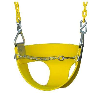 Half-Bucket Swing with Chain in Yellow