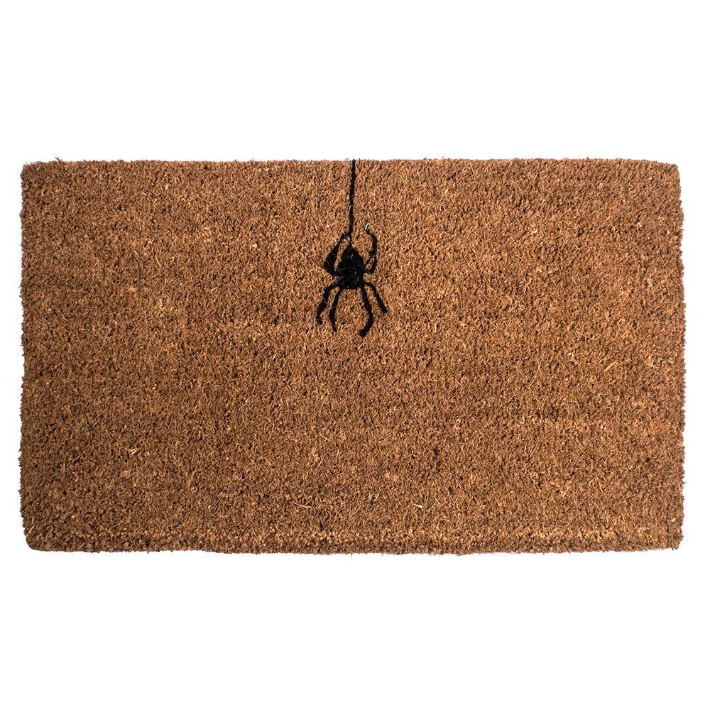 Spider 18 in. x 30 in. Hand Woven Coconut Fiber Door Mat