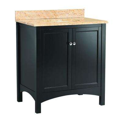 Haven 31 in. W x 22 in. D Vanity in Espresso with Vanity Top and Stone Effects in Tuscan Sun
