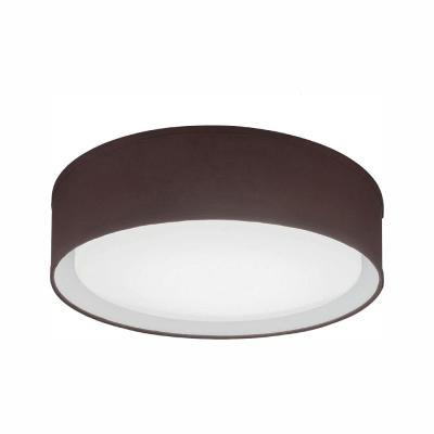 Aberdale 16 in. Chocolate Brown LED Linen Flush Mount