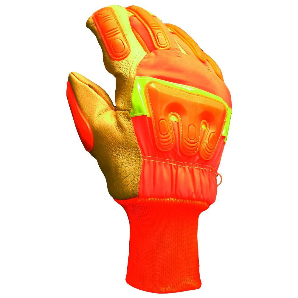 6e99cfdf30d2b Firm Grip. Winter High Visibility Full Grain Leather 40g Thinsulate Gloves