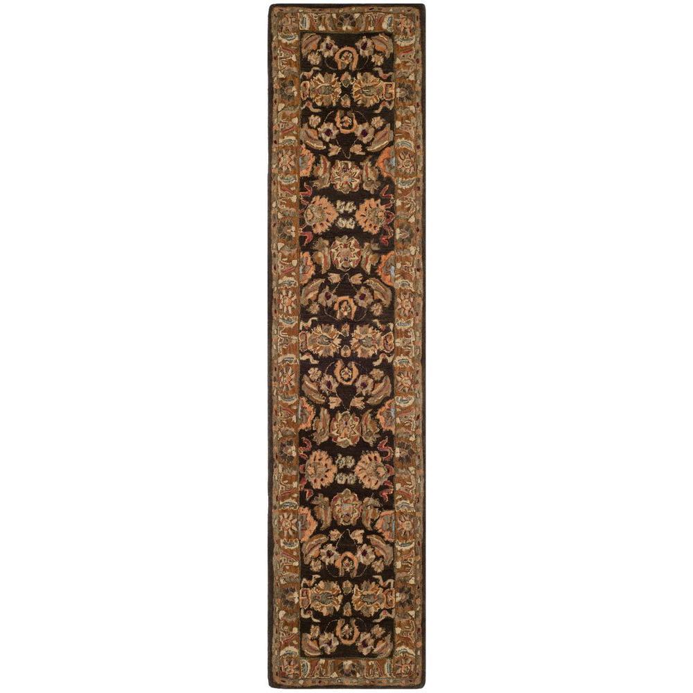Anatolia Dark Brown/Gold 2 ft. 3 in. x 12 ft. Runner
