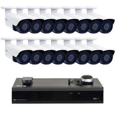 32 Channel 5MP DVR 4TB HDD Surveillance System With 16 Wired IP Cameras Bullet Manual Varifocal Zoom 130FT IR