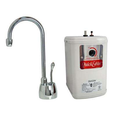 Single-Handle Hot Water Dispenser Faucet with Heating Tank in Polished Chrome