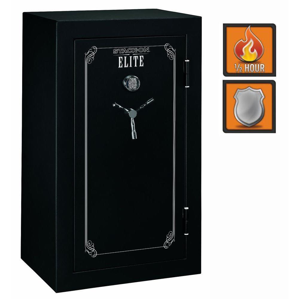Stack-On 36-Gun Elite 22 cu. ft. Fire-Resistant Electronic Lock Safe with Door Storage