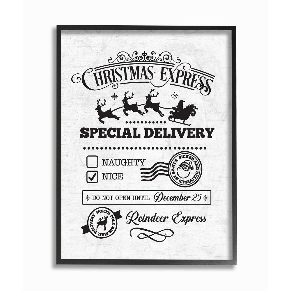 "11 in. x 14 in. ""Holiday Christmas Express Package Special Delivery"""
