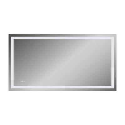 72 in. x 38 in.LED Lighted Single Frameless Bathroom Mirror Wall Mounted Anti-Fog Horizontal
