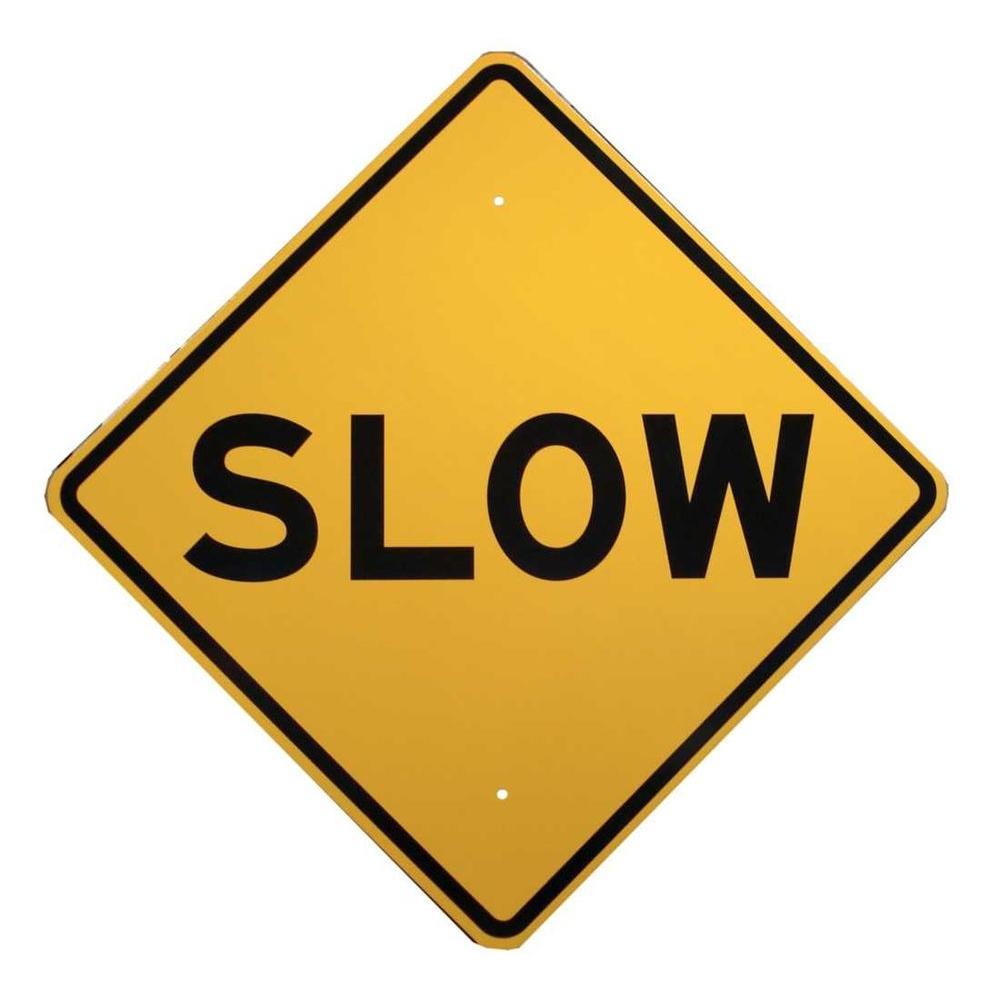 Brady 24 inch x 24 inch Aluminum Slow Sign by Brady