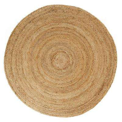 Kerala Natural 4 ft. Round Area Rug