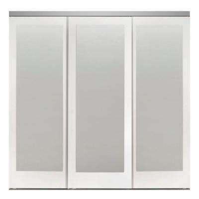 Mir-Mel Mirror Primed Chrome Trim Solid MDF Interior Closet Sliding Door