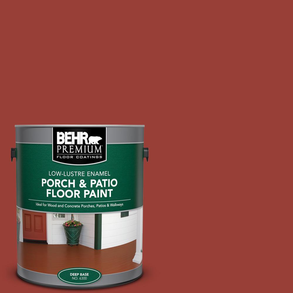 1 gal. #S-H-190 Antique Red Low-Lustre Enamel Interior/Exterior Porch and Patio Floor Paint