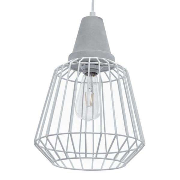 Telli 3-Light White Cage Pendant (3-Piece Set)