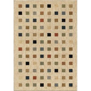Orian Rugs City Squares Plush Blocks Beige 7 ft. 10 inch x 10 ft. 10 inch Area Rug by Orian Rugs