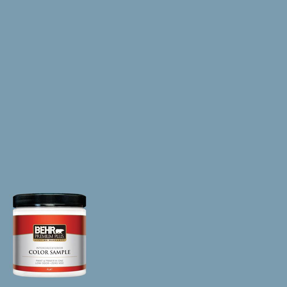 8 oz. #550F-4 Cool Dusk Flat Zero VOC Interior/Exterior Paint and