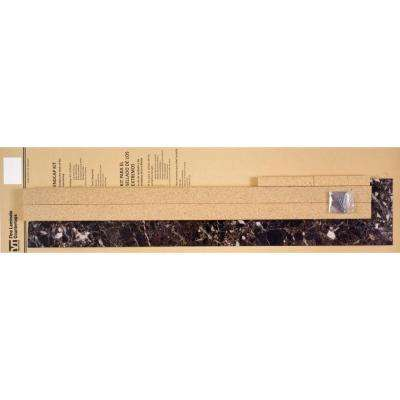 4-5/8 in. x 25-3/4 in. Laminate Endcap Kit in Breccia Nouvelle with Marbella Edge