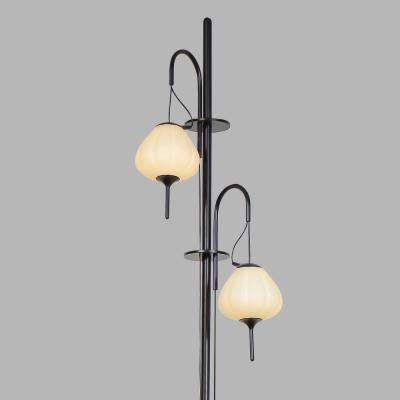 Lecce 70 in. Black Indoor Floor Lamp with Integrated LED Technology