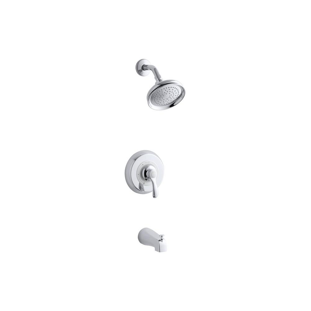 Fairfax Single-Handle 1-Spray 2.0 GPM Tub and Shower Faucet with Lever