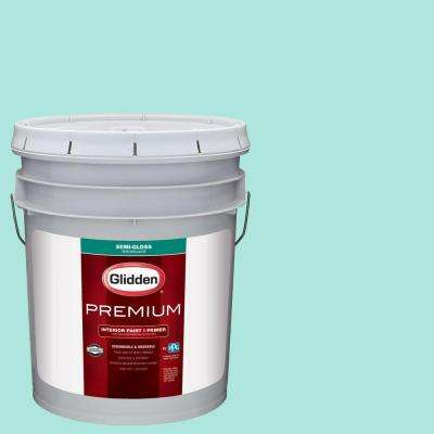 5 gal. #HDGB03 Teal Zeal Semi-Gloss Interior Paint with Primer