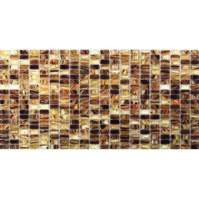 Breeze Rusty Leaves Glass Mosaic Floor and Wall Tile - 3 in. x 6 in. Tile Sample