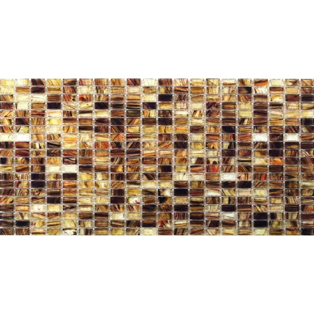 Breeze Rusty Leaves Glass Mosaic Floor and Wall Tile - 3