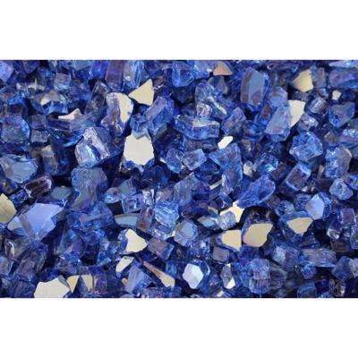 10 lbs. Bag Reflective Fire Pit Fire Glass in Cobalt Blue