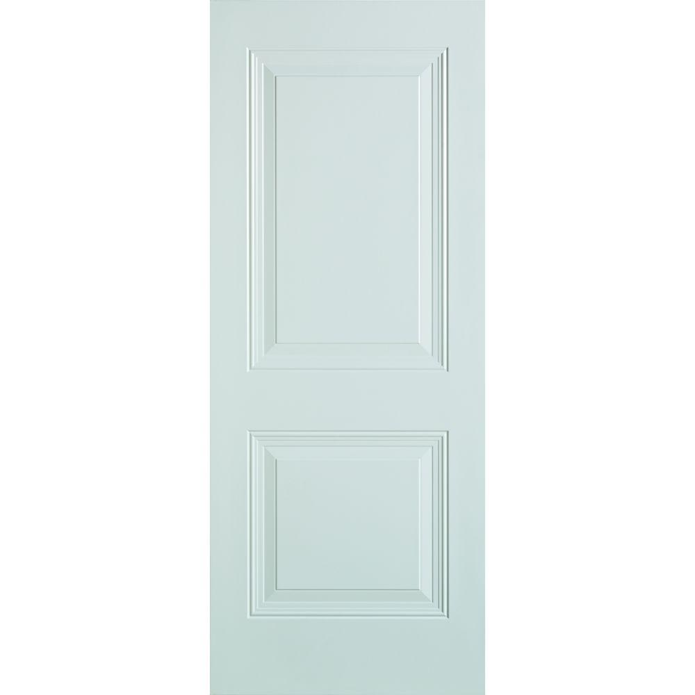Stanley Doors 36 in. x 80 in. 2-Panel Painted Steel Front Door ...