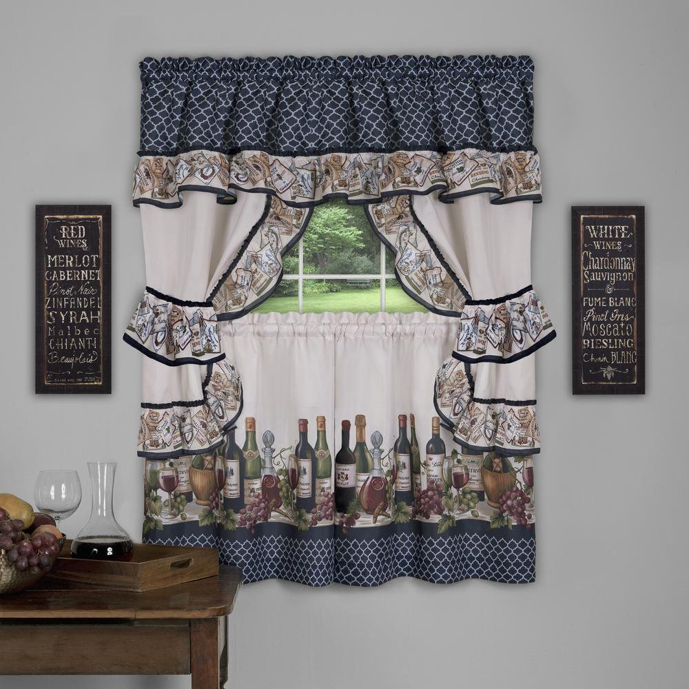 Achim Sheer Chateau 36 In. L Polyester Window Curtain Set