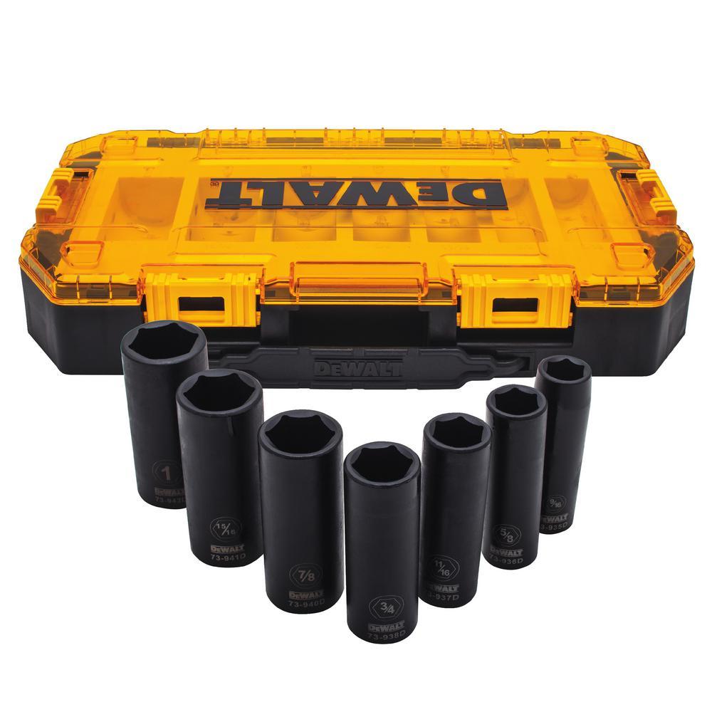 DEWALT 1//2 Drive Socket Deep Impact 6PT 1 5//16