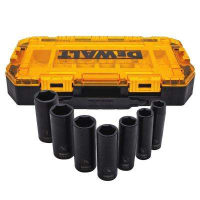 1/2 in. Drive SAE Deep Impact Socket Set (7-Piece)