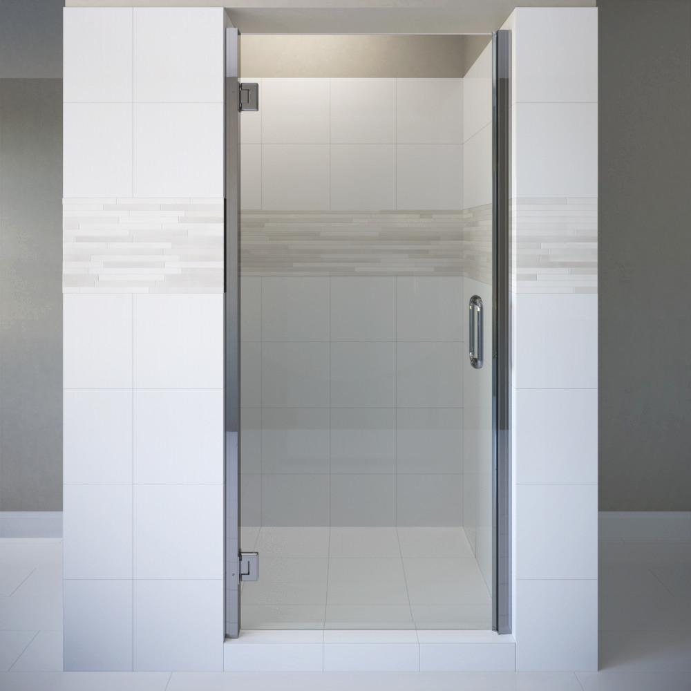 Coppia 24 in. x 76 in. Semi-Frameless Pivot Shower Door in