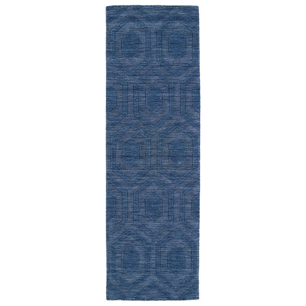Imprints Modern Blue 3 ft. x 8 ft. Runner Rug