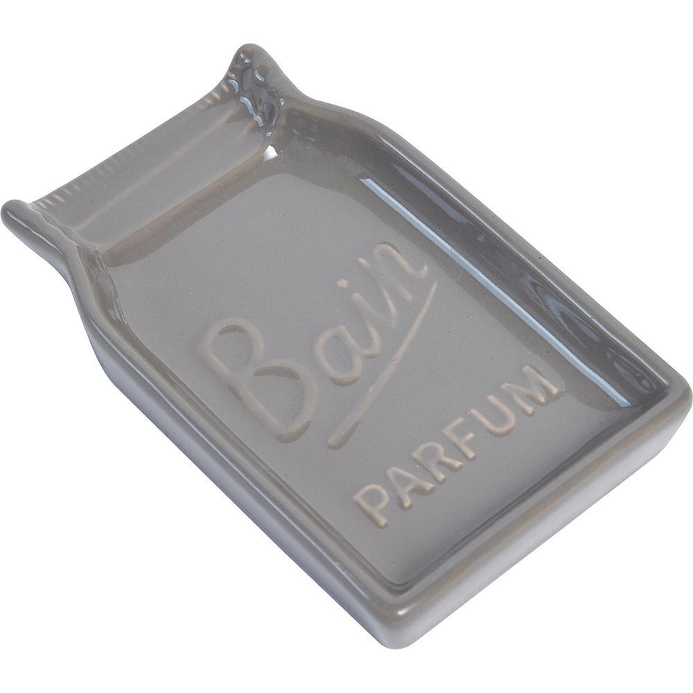 Mason Jar Collection Bath Soap Dish Cup Taupe