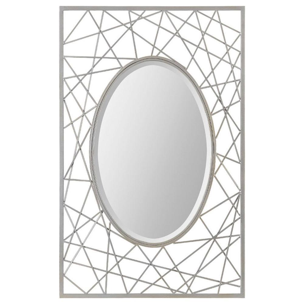 Ren-Wil Luna 30 in. x 47 in. Deco Art Framed Mirror