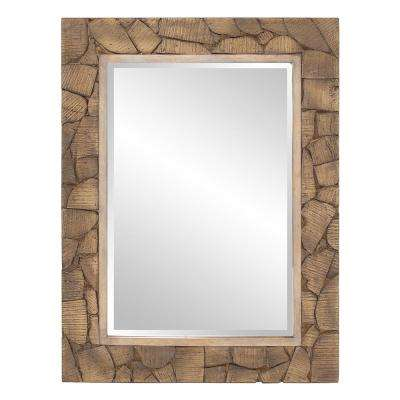 Sylvan Wood Cobblestone Decorative Mirror
