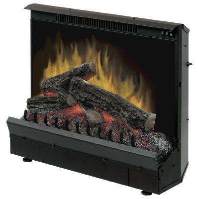 23 in. Electric Fireplace Insert in Black