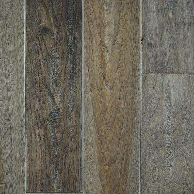 Hickory Heritage Grey Solid Hardwood Flooring - 5 in. x 7 in. Take Home Sample