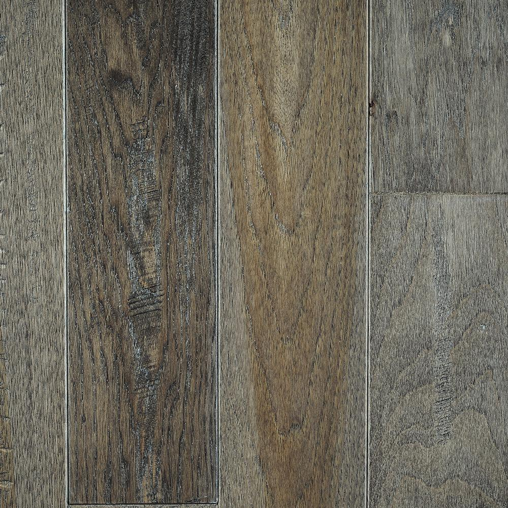 Blue ridge hardwood flooring hickory heritage grey solid for Solid hardwood flooring