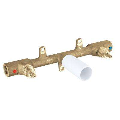 1/2 in. Brass FIP Wall-Mount Lavatory Rough-In Valve