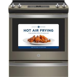 30 in. 5.3 cu. ft. Slide-In Electric Range with Self-Cleaning Convection Oven and Air Fry in Slate